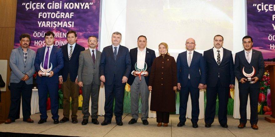 """""""Çiçek Gibi Konya"""" fotoğraf yarışmasının ödülleri verildi"""