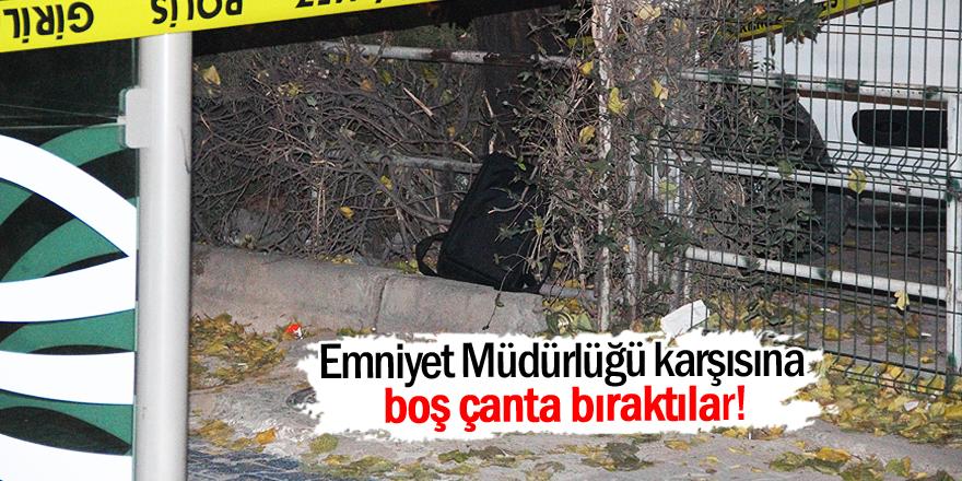 Konya'da şüpheli çanta alarmı