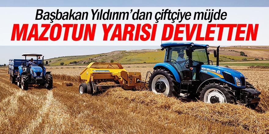 Başbakan Yıldırım'dan çiftçiye indirim müjdesi