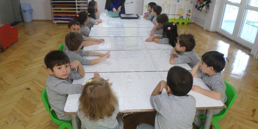 Gençlik Anaokulu'nda pasta etkinliği düzenlendi