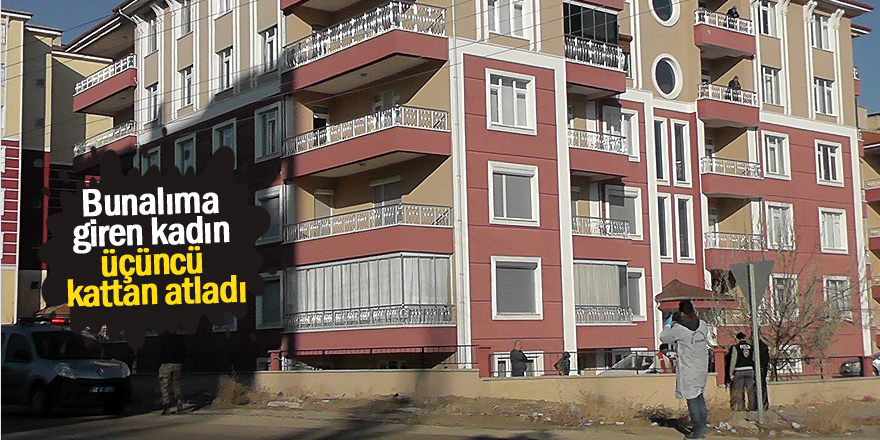 Üçüncü kattan atlayan kadın ağır yaralandı