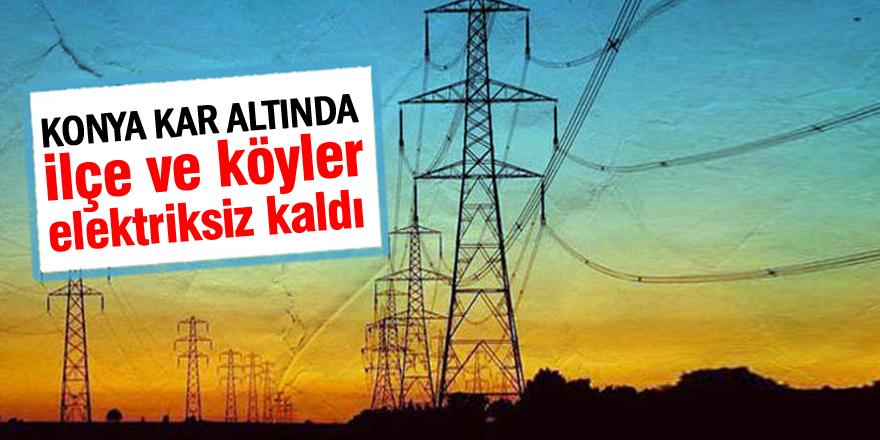 İlçe ve köyler elektriksiz kaldı
