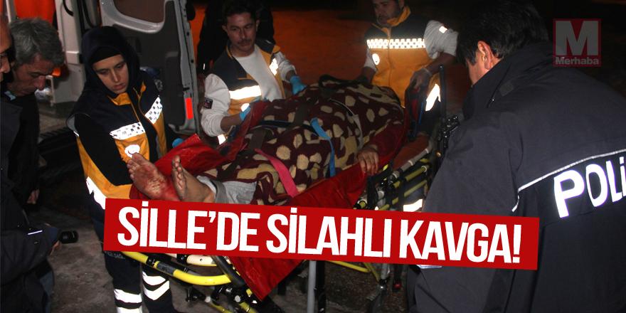 Sille'de silahlı kavga: 1 yaralı