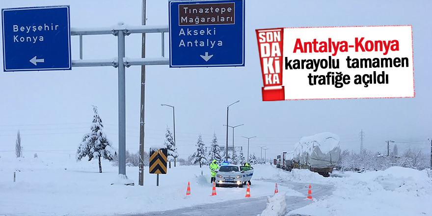 Seydişehir-Antalya yolu açıldı