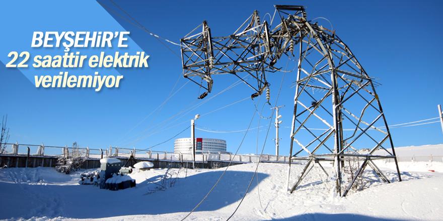 Beyşehir'e 22 saattir elektrik verilemiyor