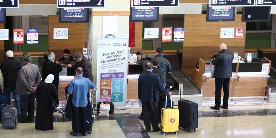 Aralık'ta 80 bin 557 yolcuya hizmet verildi