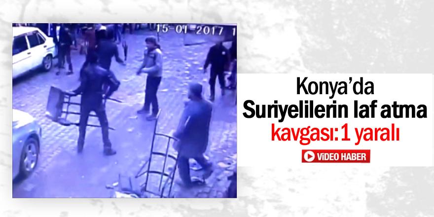 Konya'da Suriyelilerin laf atma kavgası: 1 yaralı