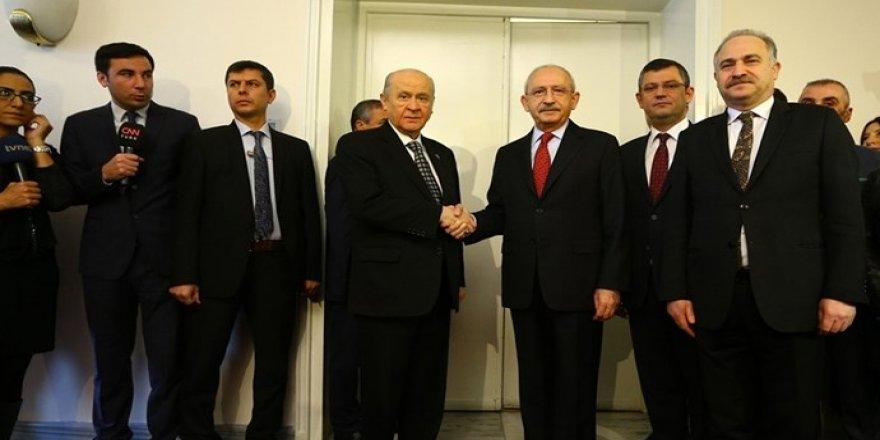 Kılıçdaroğlu ve Bahçeli'den görüşme açıklaması