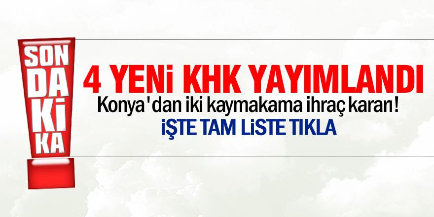 Konya'dan iki kaymakama ihraç kararı!