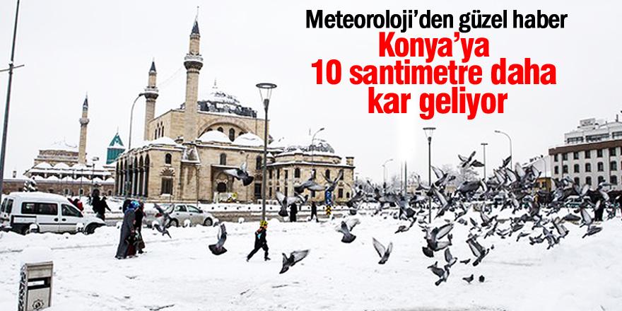Konya'ya 10 santimetre daha kar geliyor