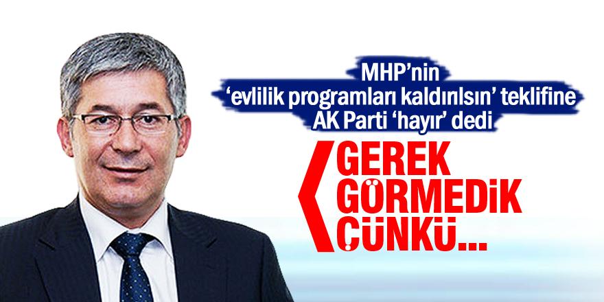 AK Partili vekilden evlilik programı açıklaması