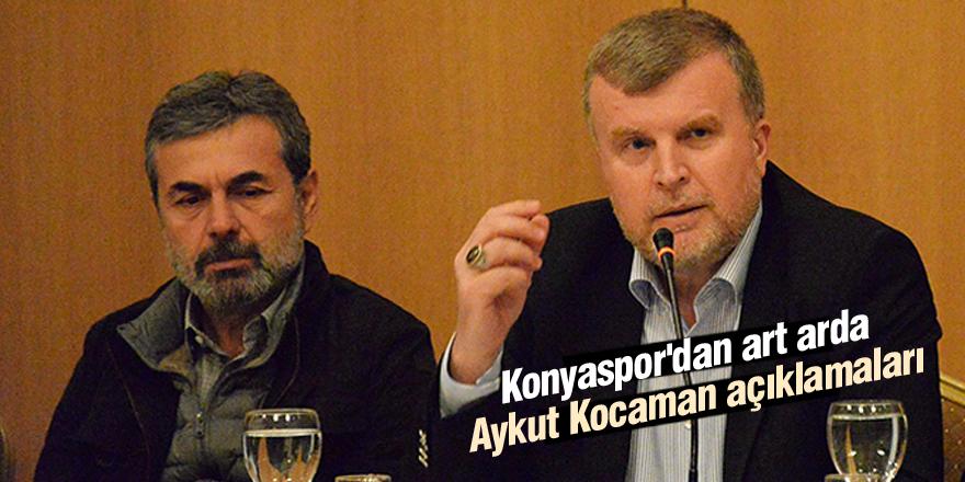 Konyaspor'dan art arda Aykut Kocaman açıklamaları