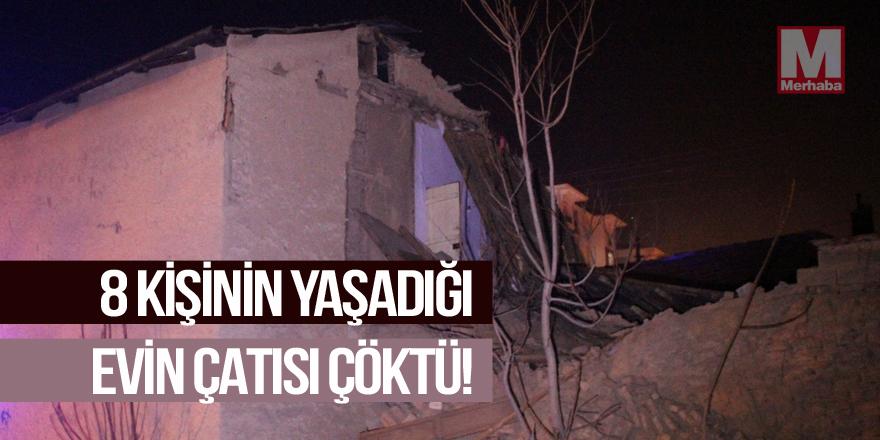 Suriyeli ailenin içinde bulunduğu evin çatısı çöktü