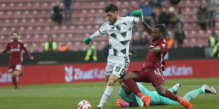 Atiker Konyaspor-Trabzonspor: 1 - 1 (MAÇ SONUCU)