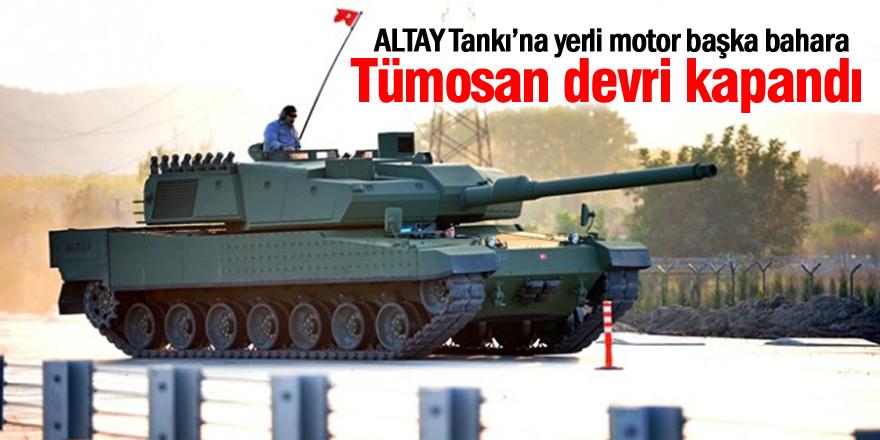 Altay'da Tümosan devri kapandı