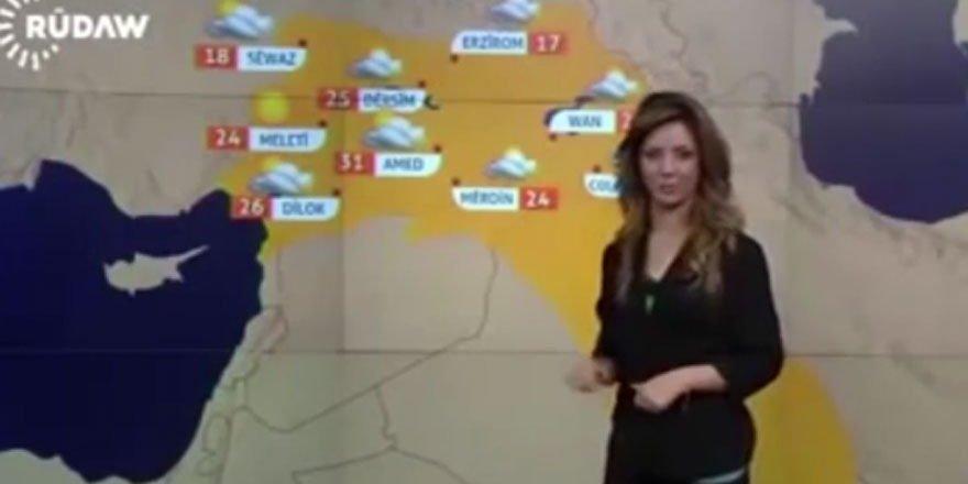 Barzani'nin kanalından harita skandalı