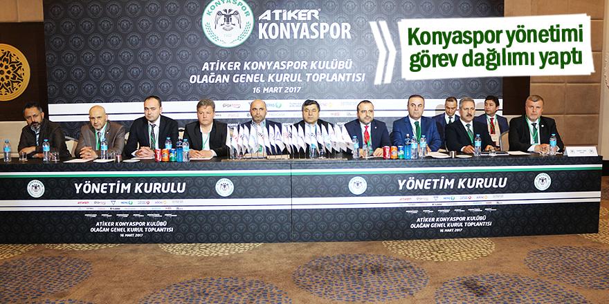 Konyaspor yönetimi görev dağılımı yaptı