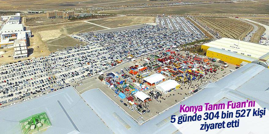 Konya Tarım Fuarı'nı 5 günde 304 bin 527 kişi ziyaret etti