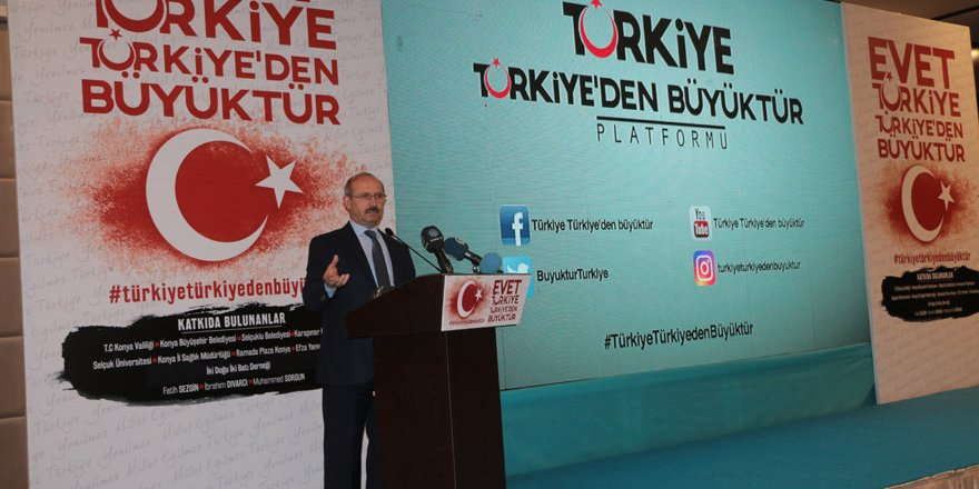 """""""Türkiye Türkiye'den Büyüktür"""" kısa filmi galası yapıldı"""