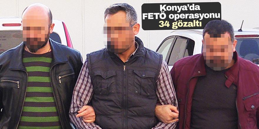 Konya merkezli 15 ilde FETÖ/PDY operasyonu