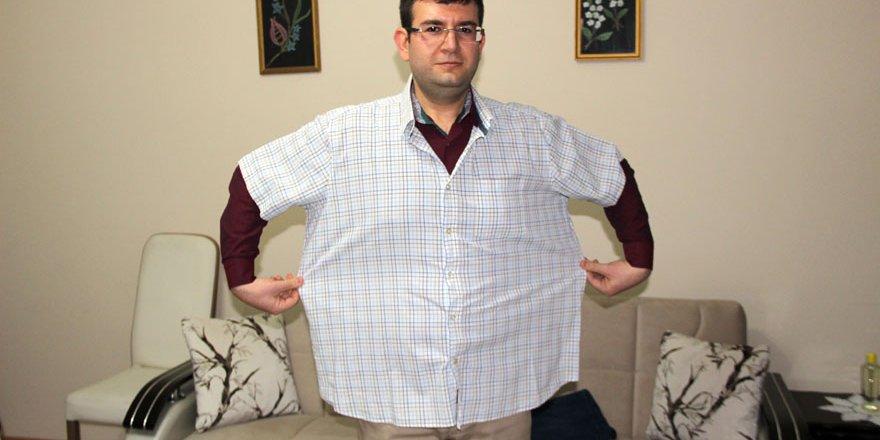 Diyetle 8 ayda 45 kilo verdi