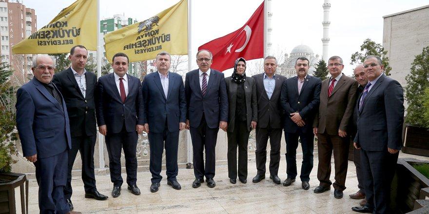 MHP heyetinden, Başkan Akyürek'e ziyaret