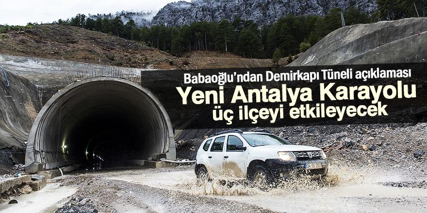 Yeni Antalya Karayolu üç ilçeyi etkileyecek