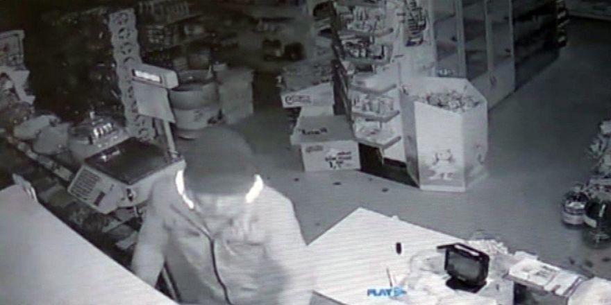 Market hırsızı güvenlik kamerası sayesinde 45 dakikada yakalandı
