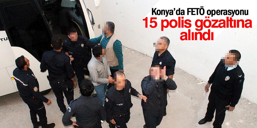 Ereğli'de 15 polis gözaltına alındı