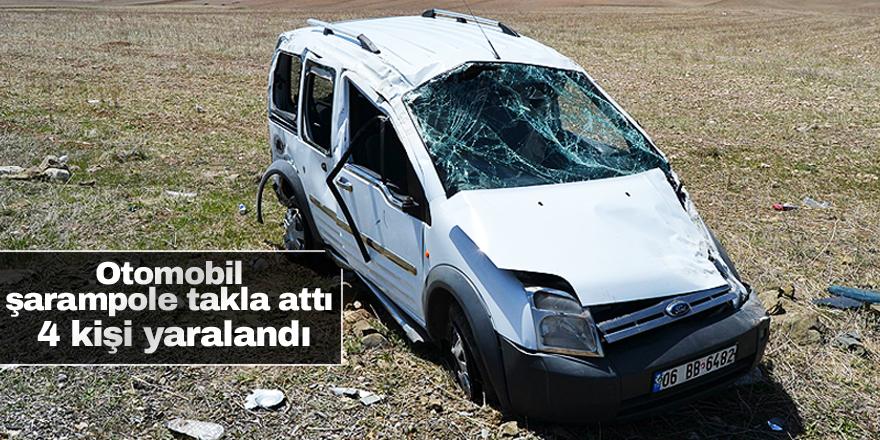 Kulu'da hafif ticari araç takla attı: 4 yaralı