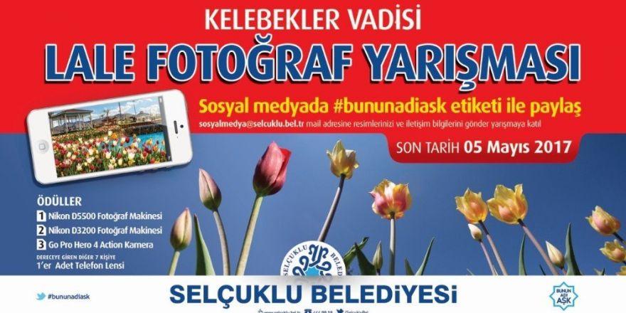 Selçuklu'da 'Kelebekler Vadisi Lale Fotoğraf' yarışması