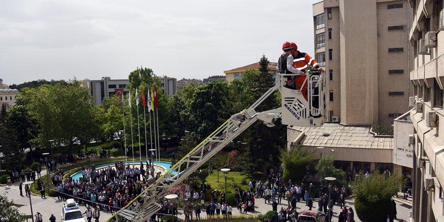 Konya Büyükşehir'den yangın tatbikatı