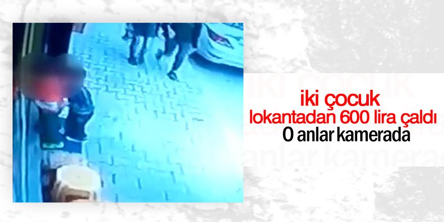 2 çocuk, lokantadaki kasadan 600 lira çaldı