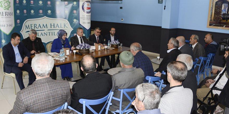 Meram Halk Toplantıları sürüyor