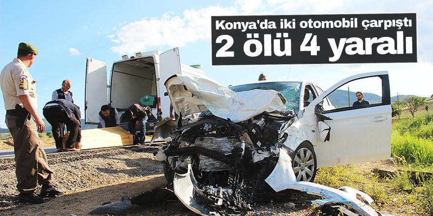 Beyşehir yolunda feci kaza: 2 ölü 4 yaralı