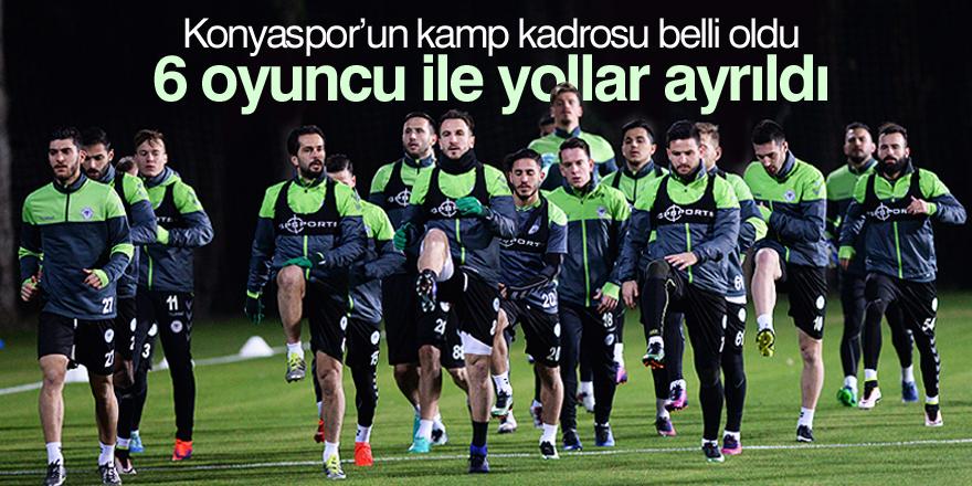 Konyaspor'un kamp kadrosu belli oldu