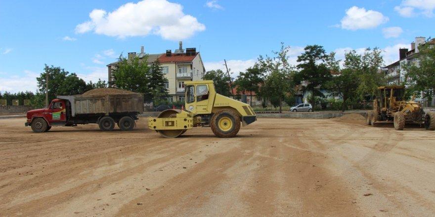 Seydişehir'de otopark çalışmaları başladı