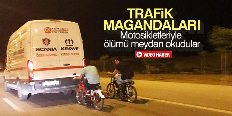 Motosikletleriyle ölümü meydan okudular