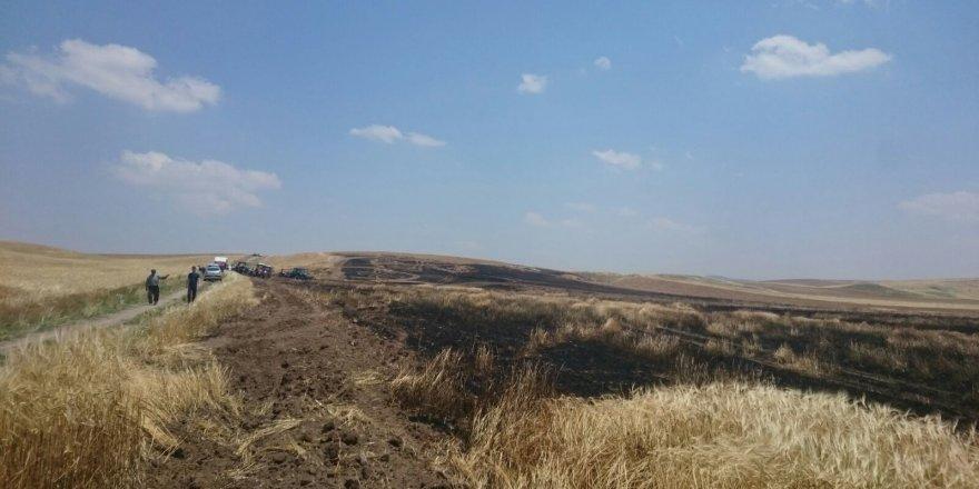 Kulu'da arpa ekili tarlada yangın çıktı