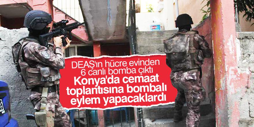 Konya'da cemaat toplantısına bombalı eylem önlendi