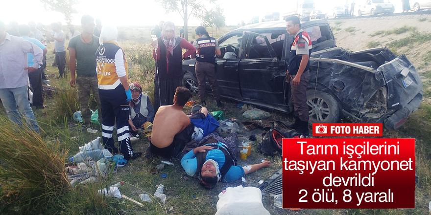Konya'da feci kaza: 2 ölü 8 yaralı