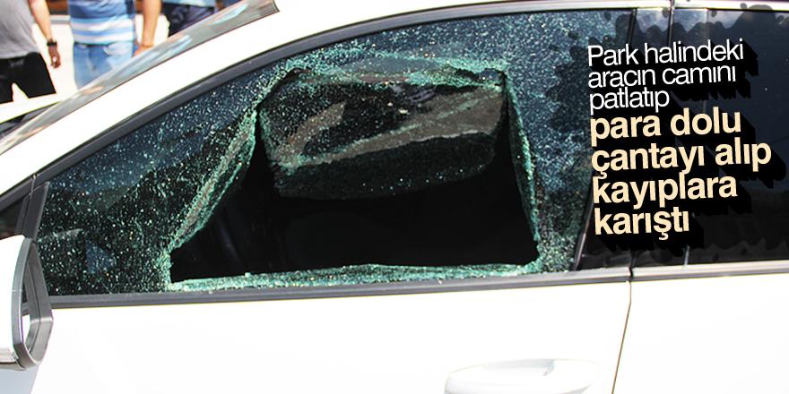 Otomobilden hırsızlık güvenlik kamerasında