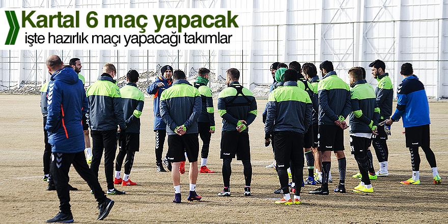 Konyaspor, 6 hazırlık maçı oynayacak