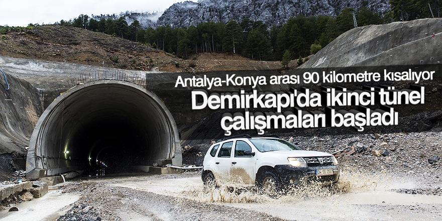 Demirkapı'da ikinci tünel çalışmaları başladı