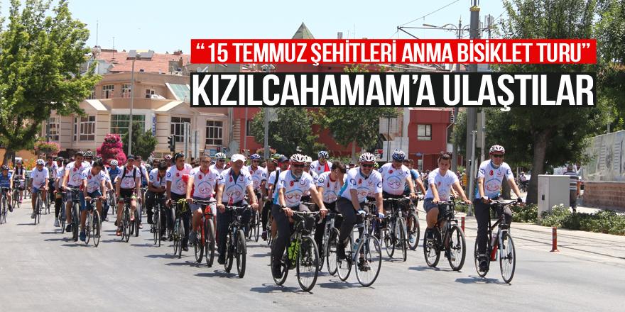 Şehitler için pedal çeviren bisikletçiler Kızılcahamam'da