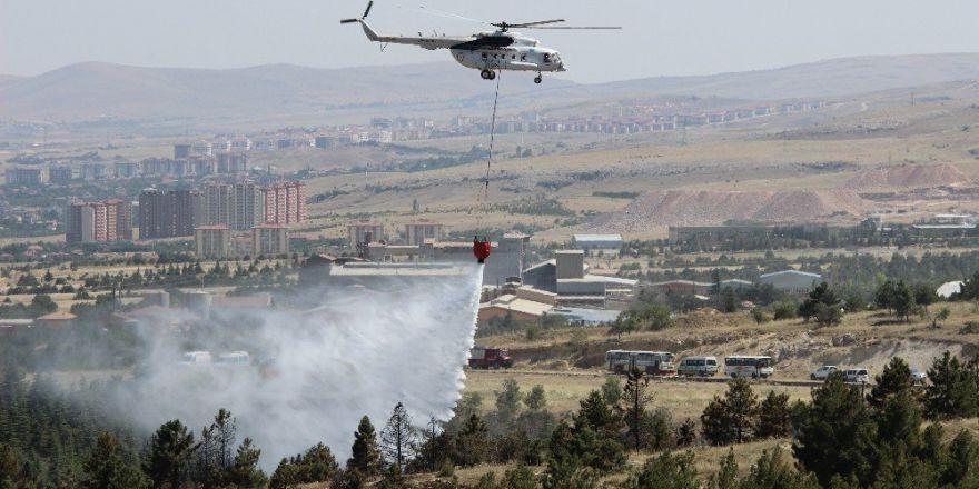 Konya'da ormanlık alandaki yangın kontrol altına alındı