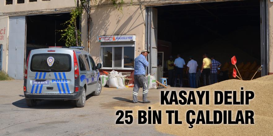 Kasayı delip 25 bin TL çaldılar