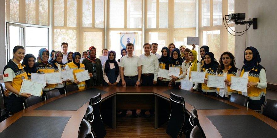 112 çalışanlarına sertifikaları verildi