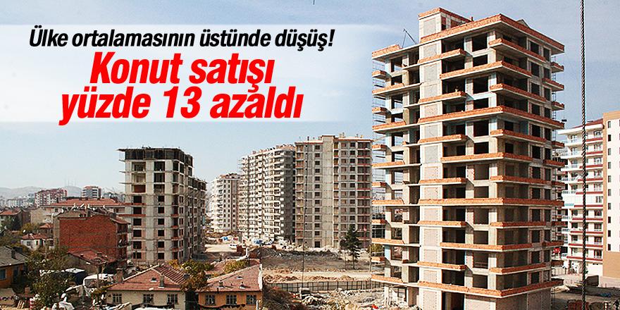 Konya'da konut satışı yüzde 13 azaldı
