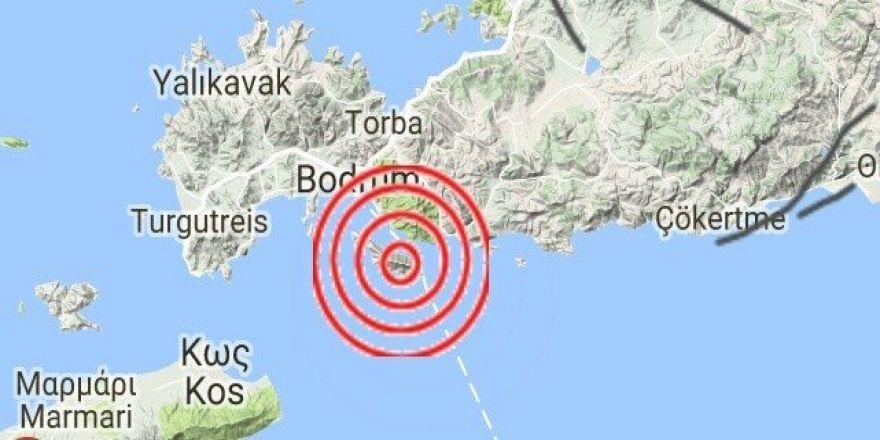 Ege Denizi'de 4.0 büyüklüğünde deprem
